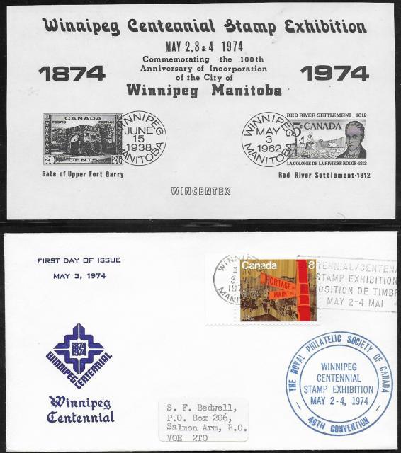 1974 Winnipeg RPSC 633 fdc