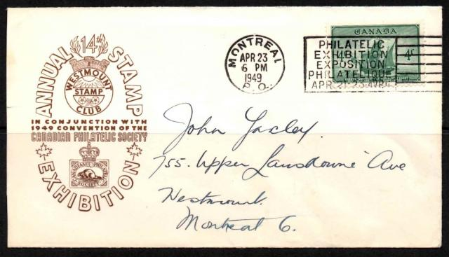 1949 Montreal CPS 282 non-fdc
