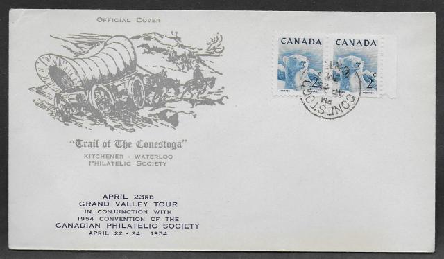 1954 Kitchener CPS 322 non-fdc