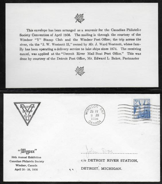 1956 Windsor CPS 361 non-fdc