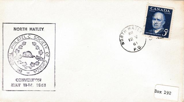 1961 North Hatley RPSC 393 non-fdc