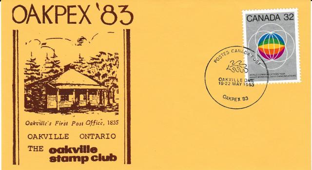 1983 Oakville OAKPEX RPSC 976 non-fdc