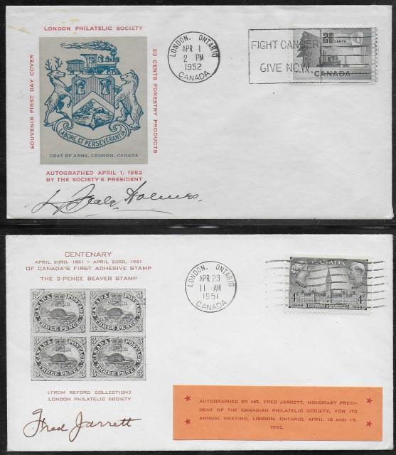 1952 London CPS 277 & 316 non-fdc
