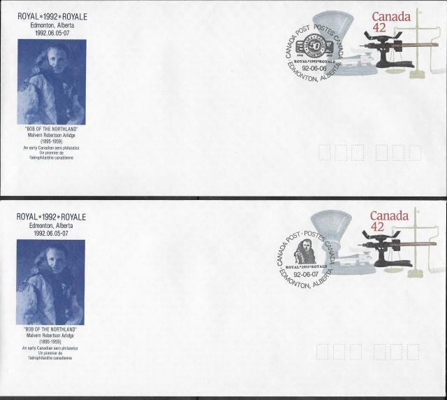 1992 Edmonton Royale EN127c envelopes