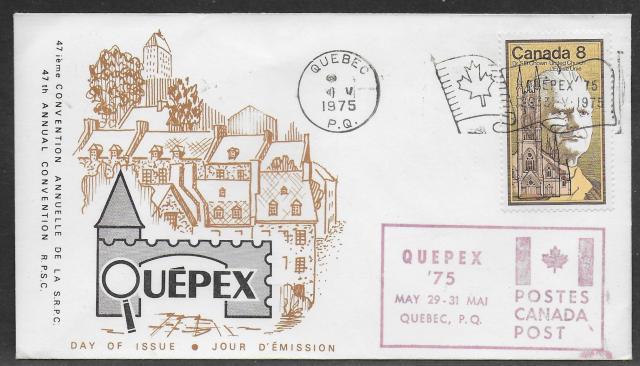 1975 Quebec City RPSC 662 fdc