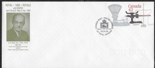 1993 Ottawa ORAPEX Royale EN127e envelope