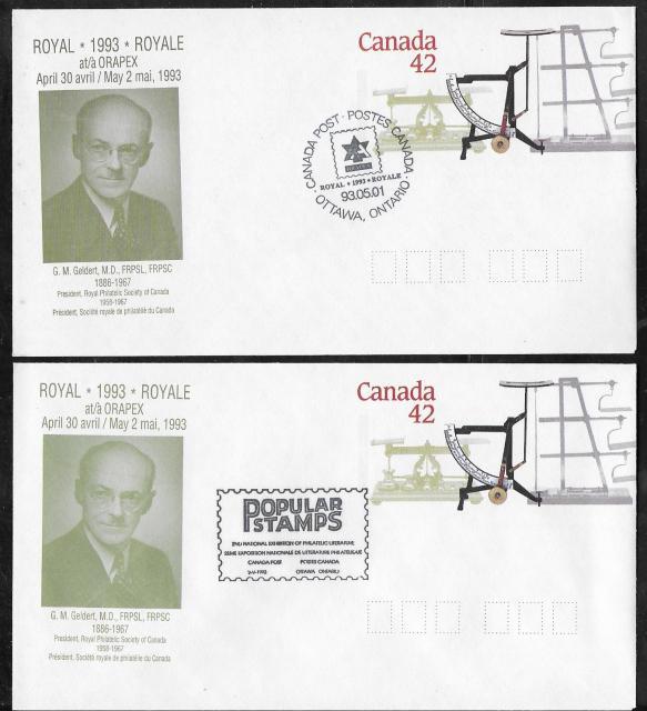1993 Ottawa ORAPEX Royale EN126d Day 2 & Day 3 cancels