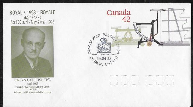 1993 Ottawa ORAPEX Royale EN126d First Day Cancel
