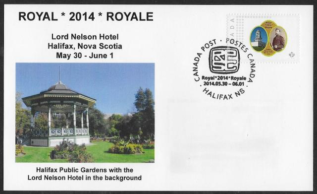 2014 Halifax Royale card picture postage fdc