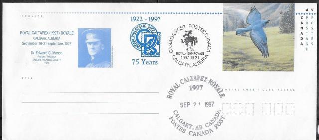 1997 Calgary CALTAPEX Royale EN151c Day 3 cancel