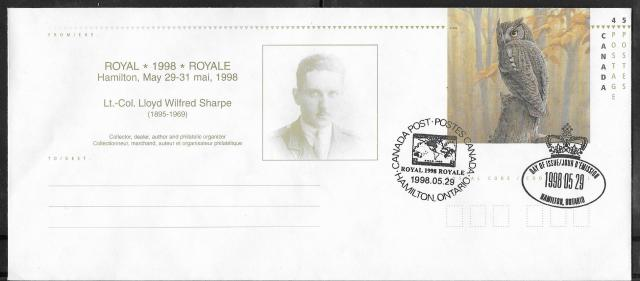 1998 Hamilton Royale EN153c First Day Cancel