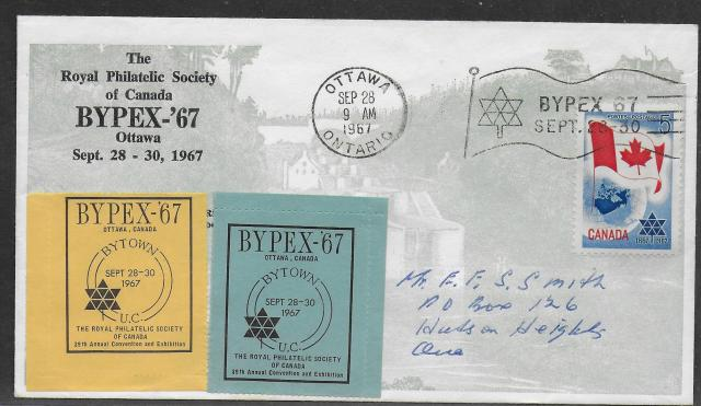 1967 Ottawa RPSC 453 non-fdc
