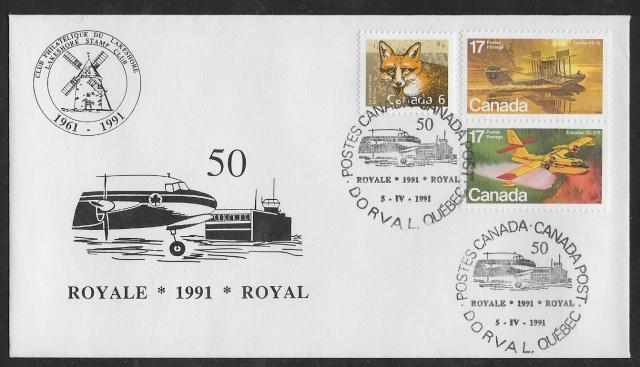 1991 Dorval Royale 843-844, 1159 non-fdc