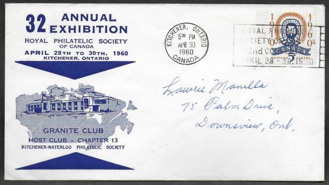 1960 Kitchener RPSC 389 Granite Club cachet