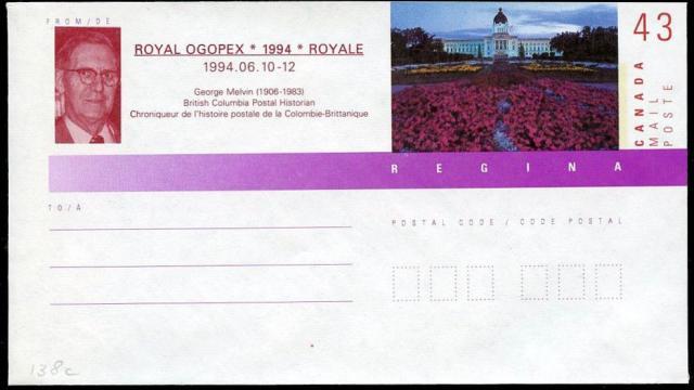1994 Vernon OGOPEX Royale EN138c envelope