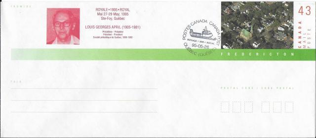 1995 Quebec City Royale EN141d envelope