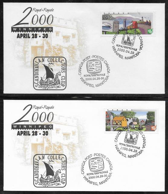 2000 Winnipeg Royale 1849 1850 fdc