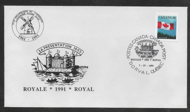 1991 Dorval Royale 1169 non-fdc Fort cachet