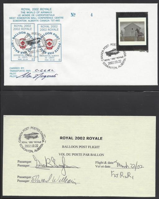 2002 Edmonton Royale 1945 fdc