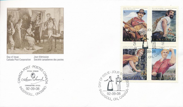 1432-1435 Laura Secord OFDC special printing
