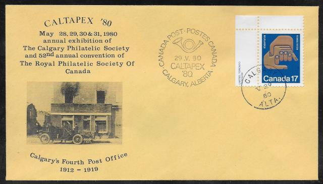 1980 Calgary CALTAPEX RPSC 856 fdc