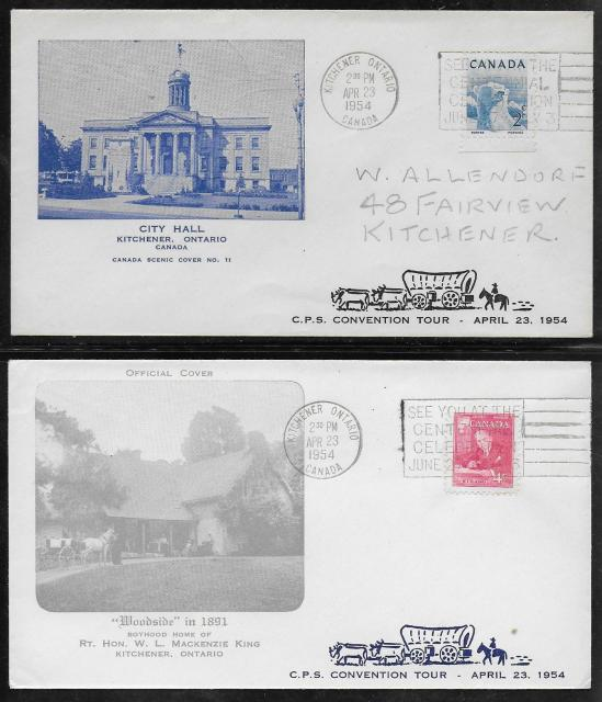 1954 Kitchener CPS Grand Valley Tour cover #1 & #2