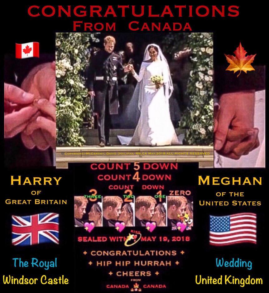 Canadian Congratulatory Wedding Poster (Harry & Meghan)