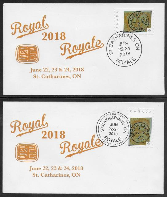 2018 St Catharines Royale Picture Postage covers