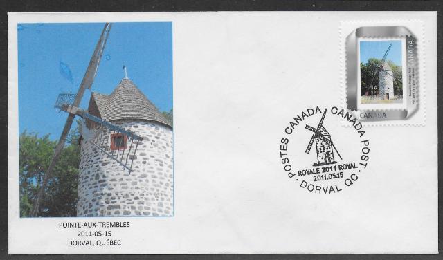 2011 Dorval Royale Pointe-aux-Trembles Picture Postage fdi