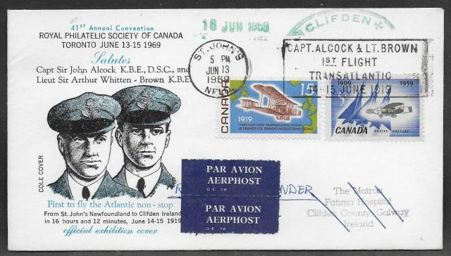 1969 Toronto RPSC 494 Airmailed fdc
