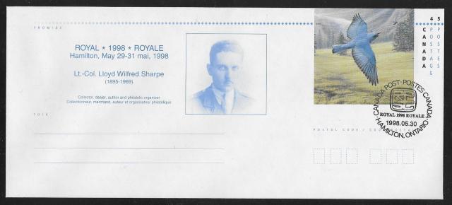 1998 Hamilton Royale EN151d Day 2 cancel