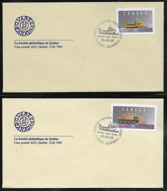 1995 Quebec City Royale 1552b d SPQ fdc