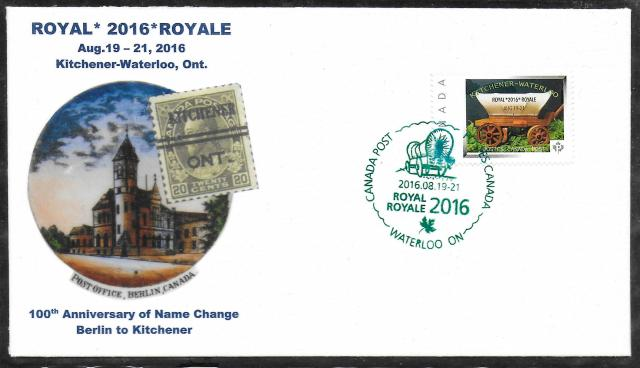 2016 Kitchener-Waterloo Royale Picture Postage cover