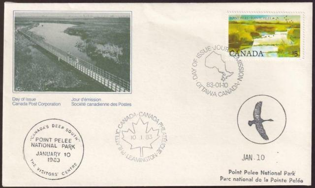 937 fdc Point Pelee Park special postmarks
