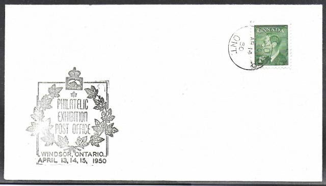 1950 Windsor CPS 289 non-fdc