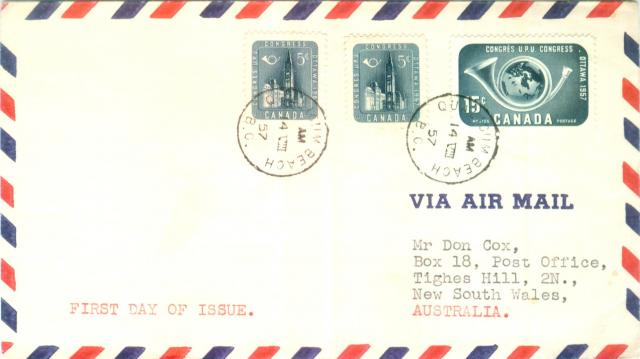#371-372 Generic Airmail Cover